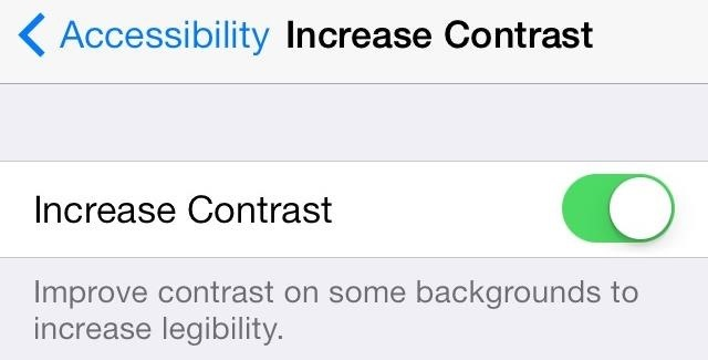 Increase Contrast iOS 7
