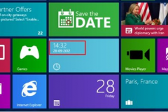 Đồng hồ cho Windows 8 Start Screen