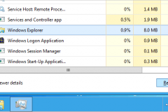 Restart Windows Explorer trong Windows 8